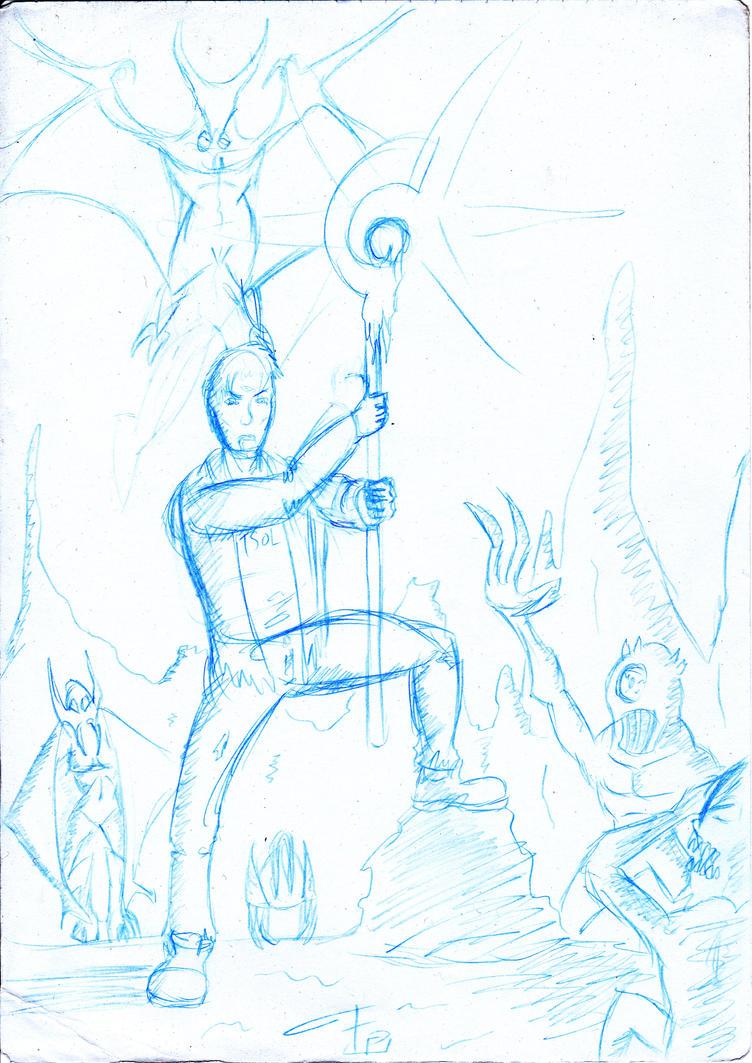 Ewen Merrick in Hell sketch by FG-Arcadia