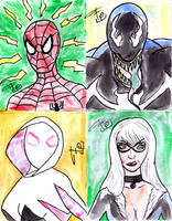 Sketchcards - Spider-Man Universe by FG-Arcadia