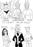 Six FanArts 3 - French superheroes by FG-Arcadia