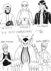 Six FanArts 4 - with my characters