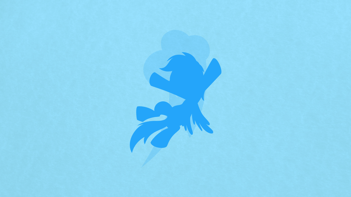 Rainbow Dash Minimalist Wallpaper [request v.] by apertureninja