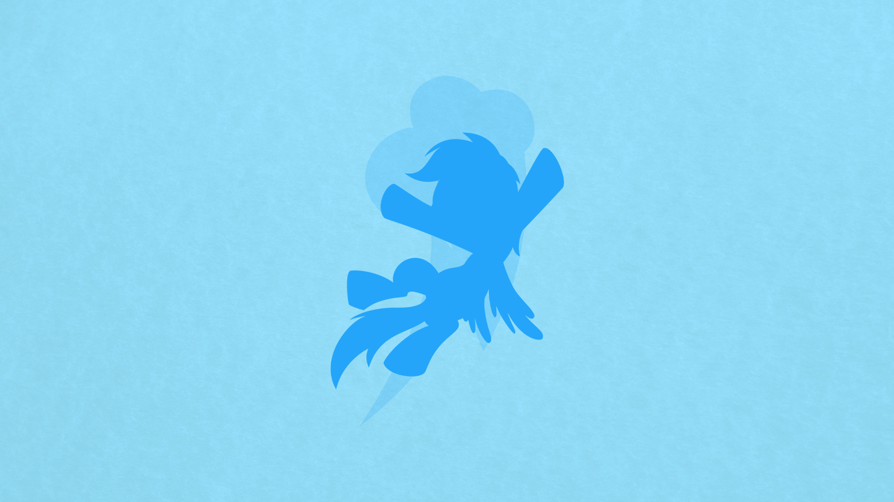 Rainbow Dash Minimalist Wallpaper [request v.] by apertureninja