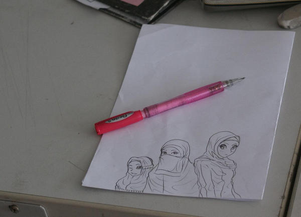 Muslimah pencil by jerungan