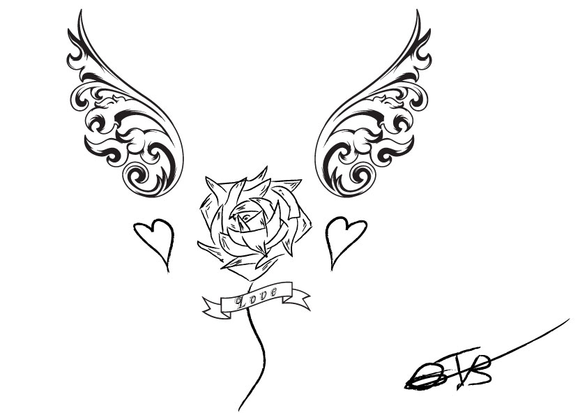 Tattoo Love Design by ...