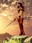 Barbarian Woman Dawn