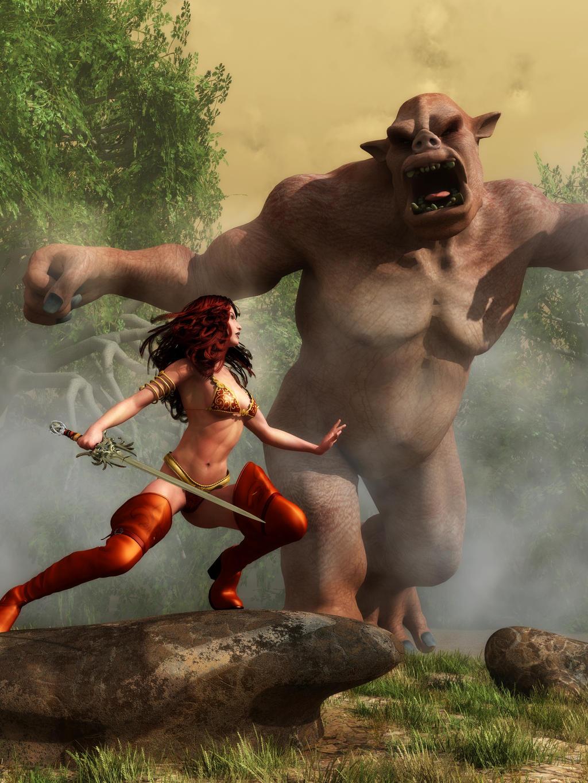 Girl fucking barbarian sex pic