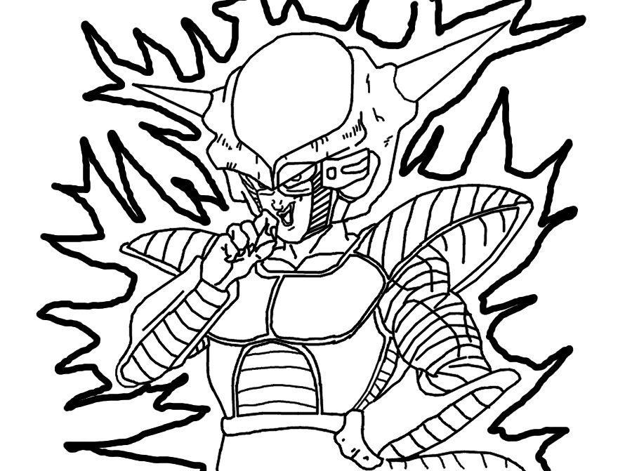 dbz coloring pages frieza - photo#38