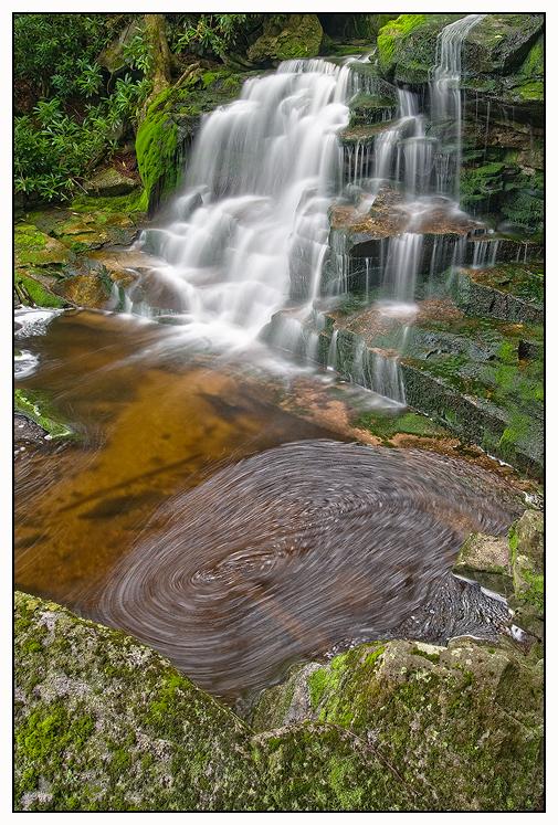 Second falls of Shays Run by joerossbach