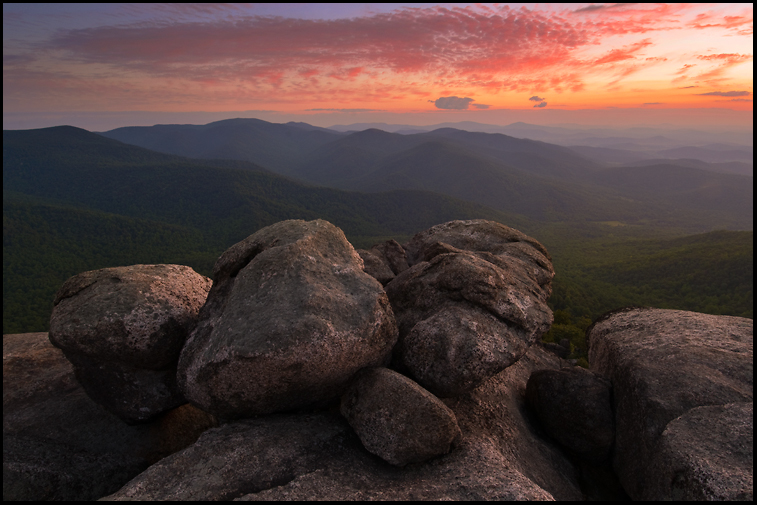 Old Rag Sunrise Vista by joerossbach