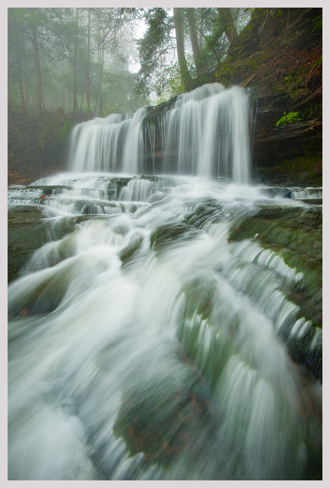 Mohawk Falls and Fog by joerossbach