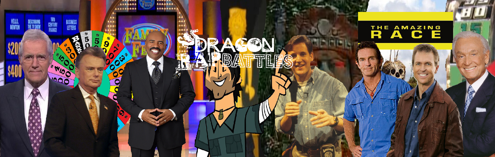 Alex Trebek VS Pat Sajak by dragonsblood23