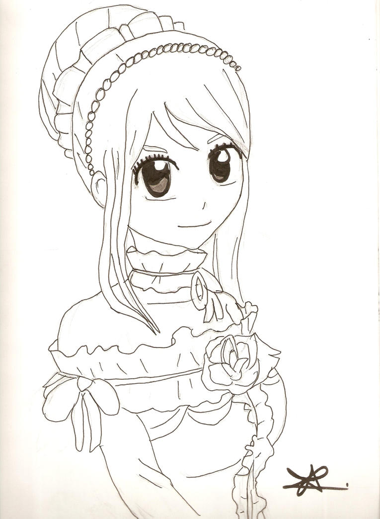 Lucy heartfilia from fairy tail by artsmermaid on deviantart - Lucy fairy tail drawing ...