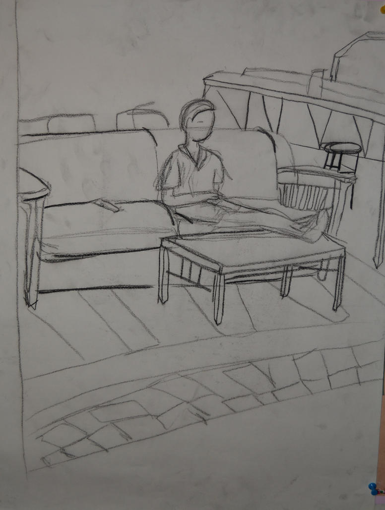 Contour Line Drawing Software : Line contour niell on a couch by artsmermaid deviantart