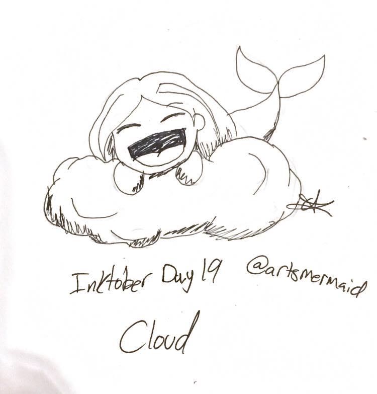 Inktober 2017 Day 19: Cloud by ArtsMermaid