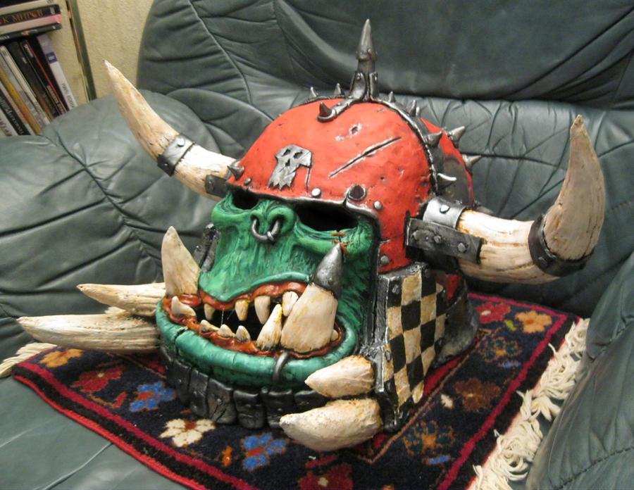 Warhammer orc warboss mask by BIGBUBBASSTUFF