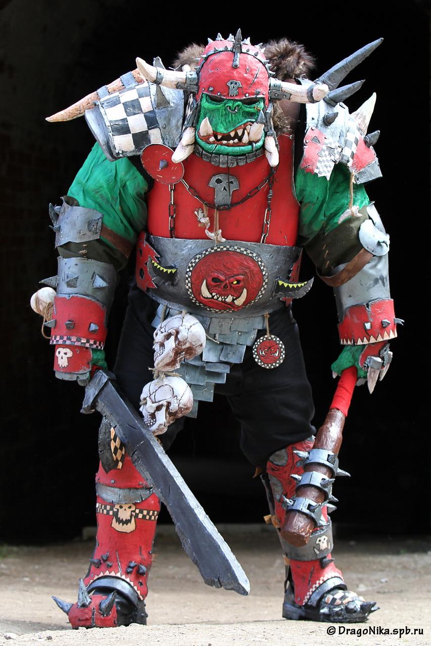 warhammer orc warboss by BIGBUBBASSTUFF