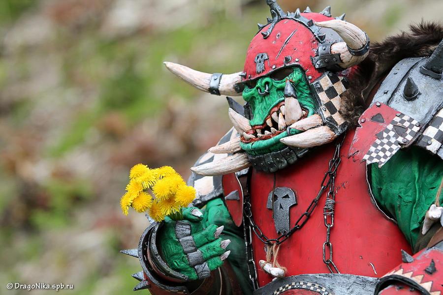 warhammer FANTASY orc warboss cutie)) by BIGBUBBASSTUFF