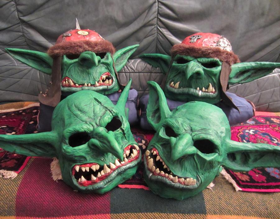 warhammer goblins masks by BIGBUBBASSTUFF