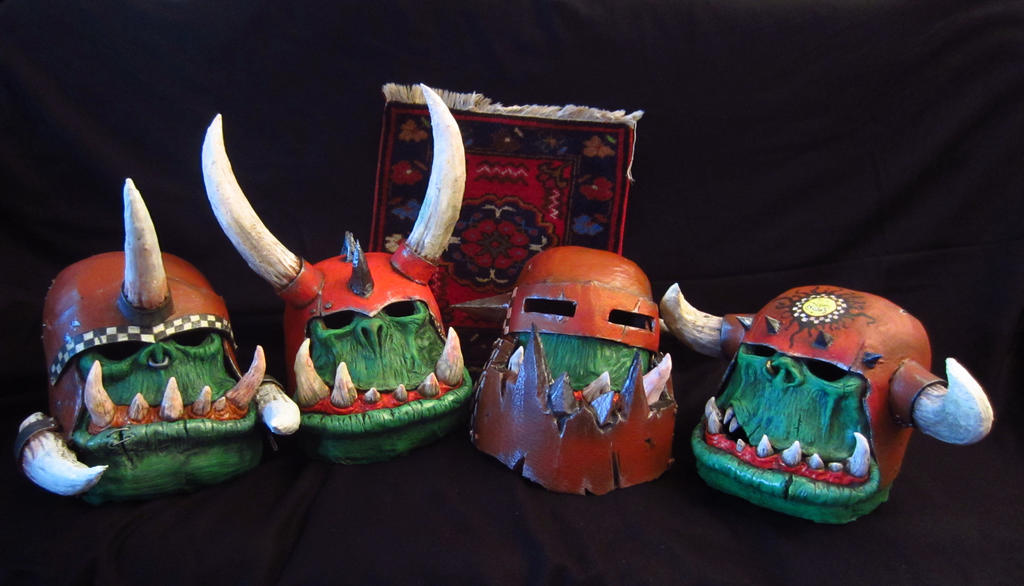 Warhammer orcs masks by BIGBUBBASSTUFF