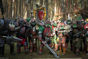 Warhammer FB Orcs by BIGBUBBASSTUFF