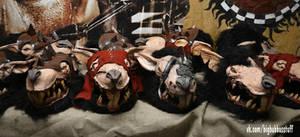 Warhammer Skaven masks