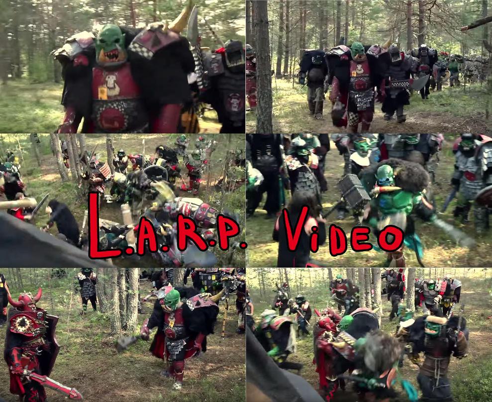 Warhammer Larp Video Greenskins vs Chaos 2015 by BIGBUBBASSTUFF