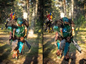 Warhammer Savage Orc Larp costume by BIGBUBBASSTUFF