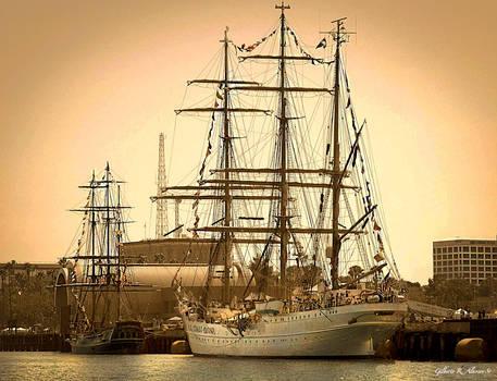 The Coast Guards Eagle and HMS Bounty