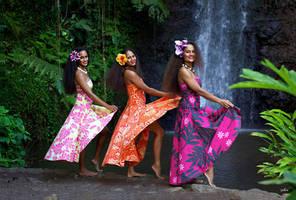 Polynesian Dancers, Papeete, Tahiti