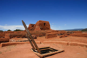 Remains of Spanish church at Pecos  by PhotographerGilberto