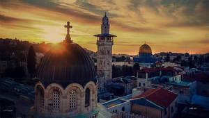 Sunrise over Old Jerusalem