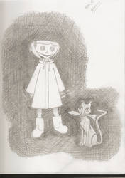 Coraline and the cat by jmhoffmann