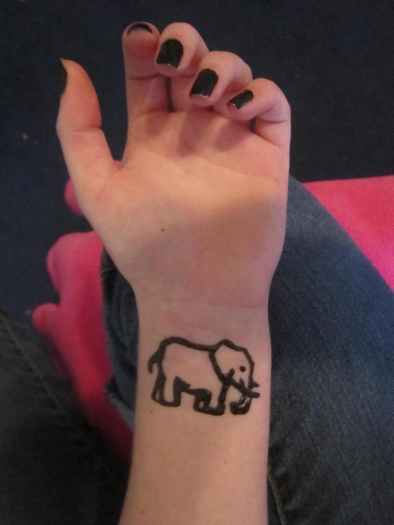 Simple Elephant Tattoos Www Topsimages Com