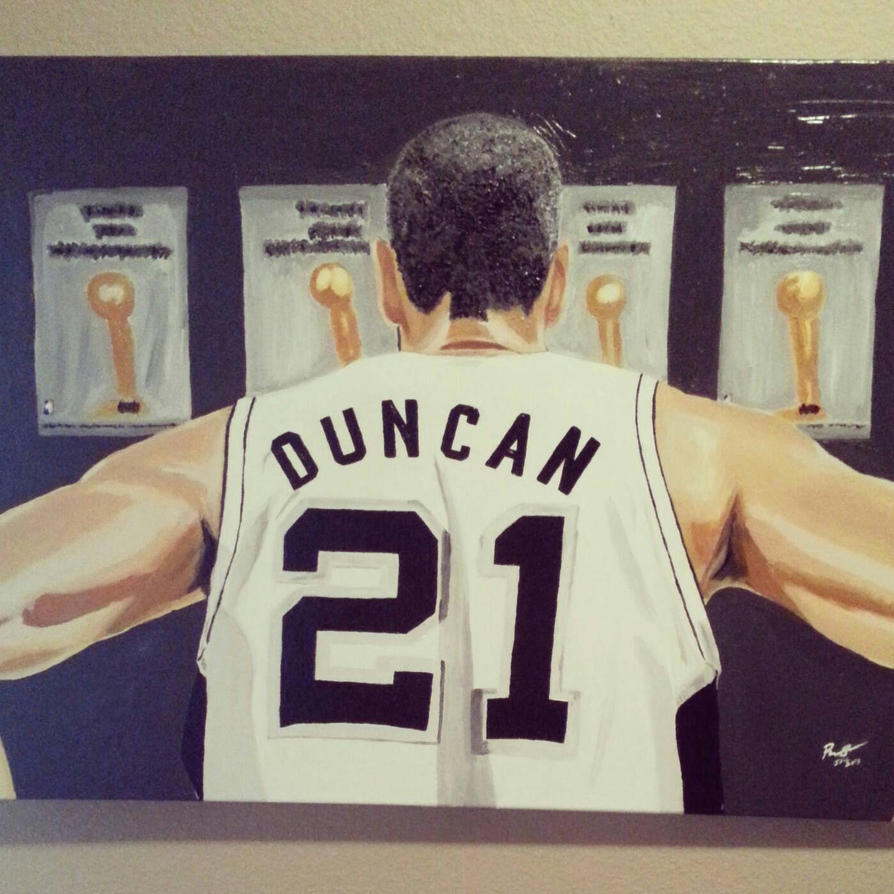 tim duncan oil painting on canvas by breathingfirewd on deviantart