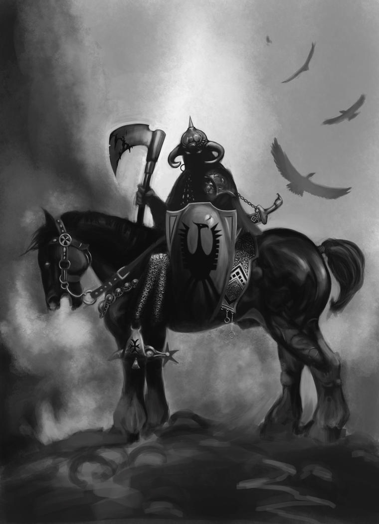 Frazetta Death Dealer Study by Xanathin