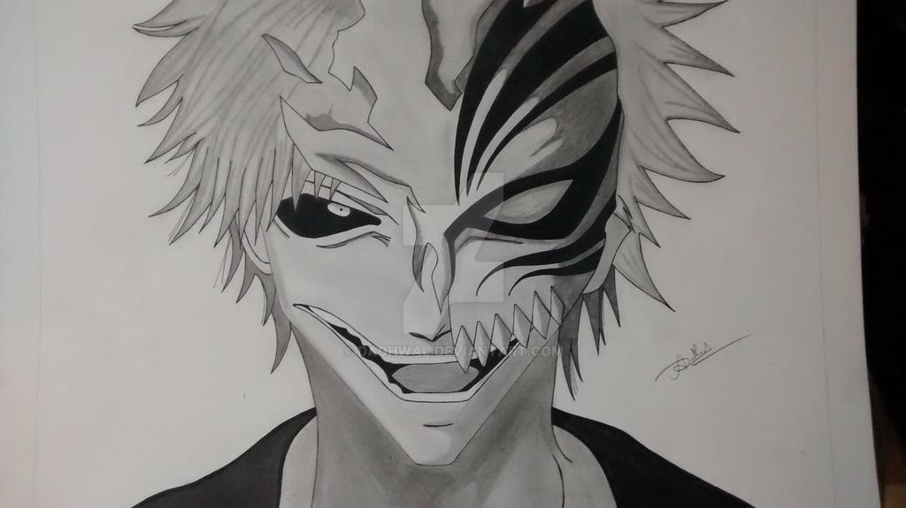 Ichigo Kurosaki Hollow Drawing By Dadhwal On DeviantArt