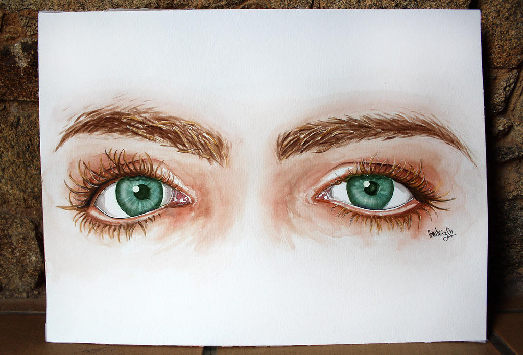 Smexy eyes with Watercolor by BeaMaia