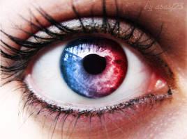 Eye Red-blue by asasj23