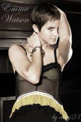 Emma Watson sepia by asasj23