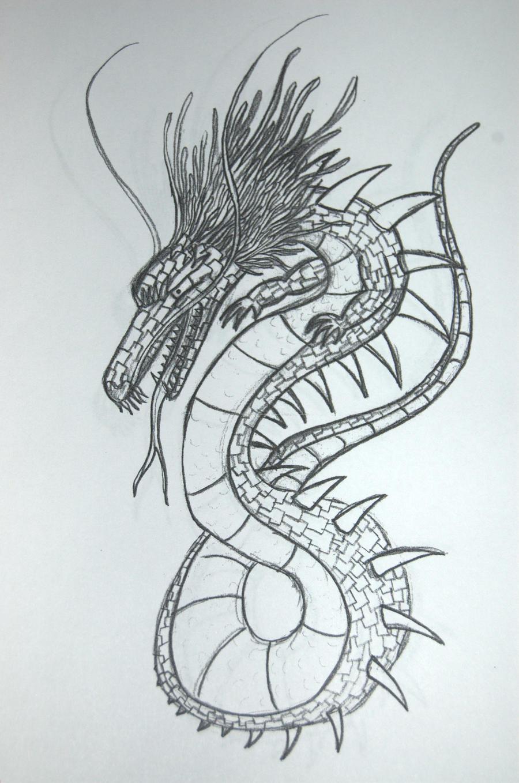 japanese dragon head drawings korzet