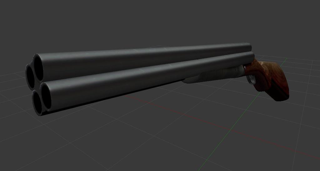 [Concept Art] Quad Barreled Shotgun by Mario5697