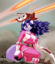 2017 Whitney Cosplay Bonus #8: Pink Power Ranger by PeterAndCompany