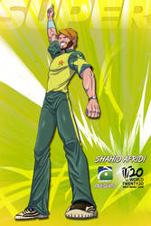 T20 2010 Poster: Shahid Afridi by saltheman