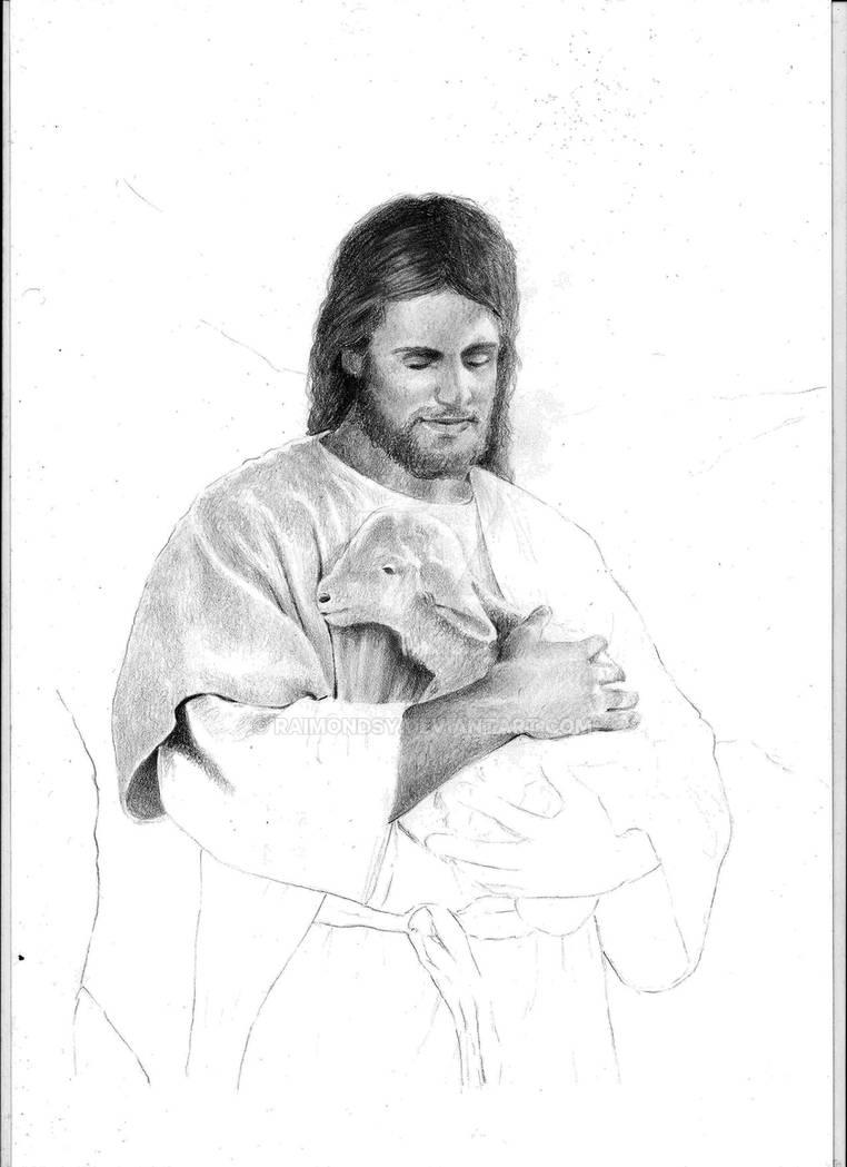 Jesus Holding A Lamb Wip2 By Raimondsy On Deviantart
