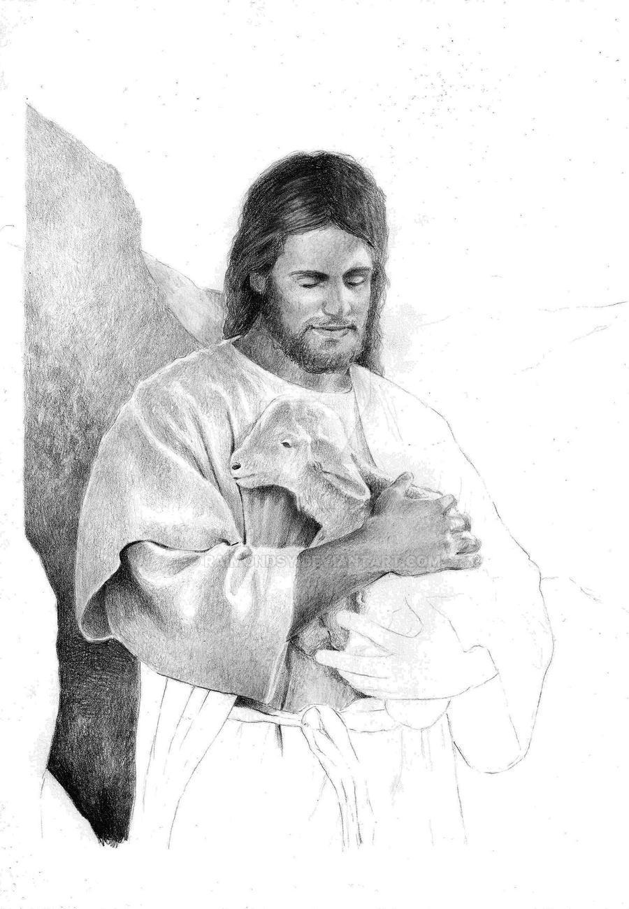 Jesus Holding A Lamb WIP3 By Raimondsy On DeviantArt