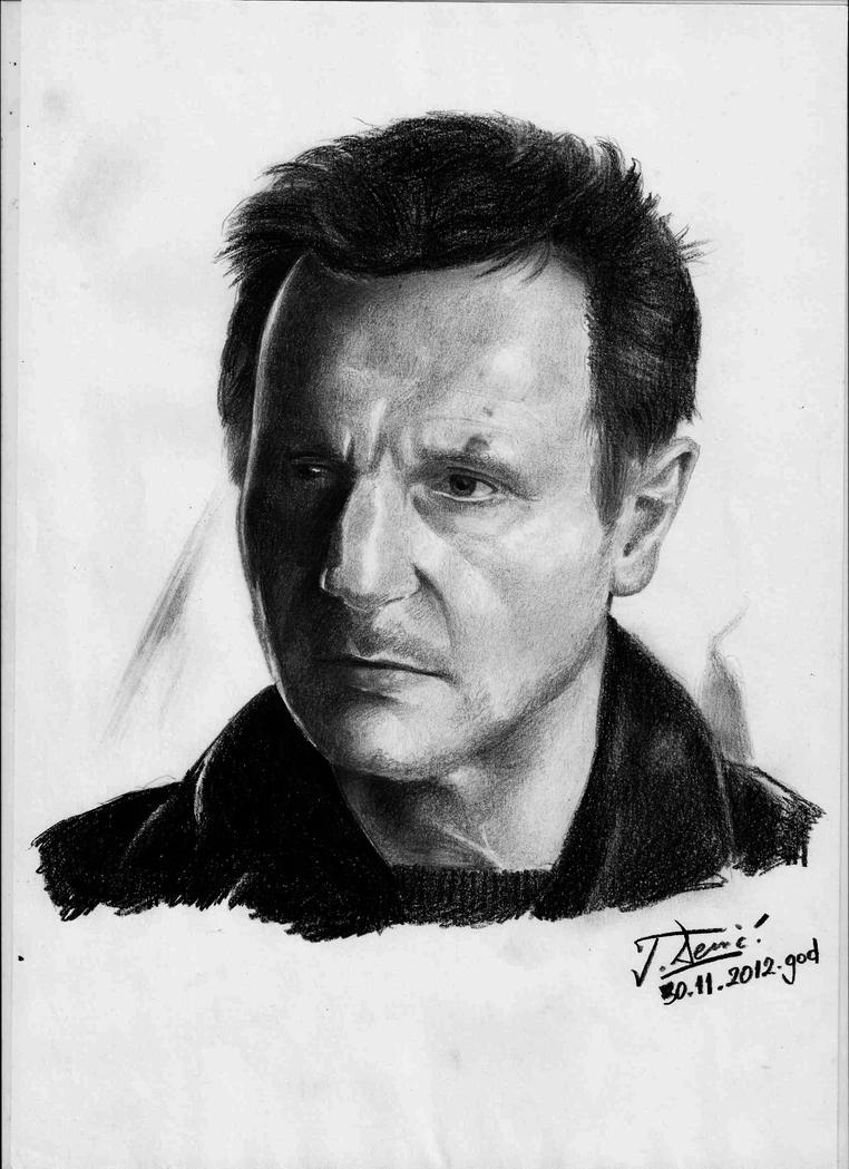 Liam Neeson (pencil portrait) by Raimondsy