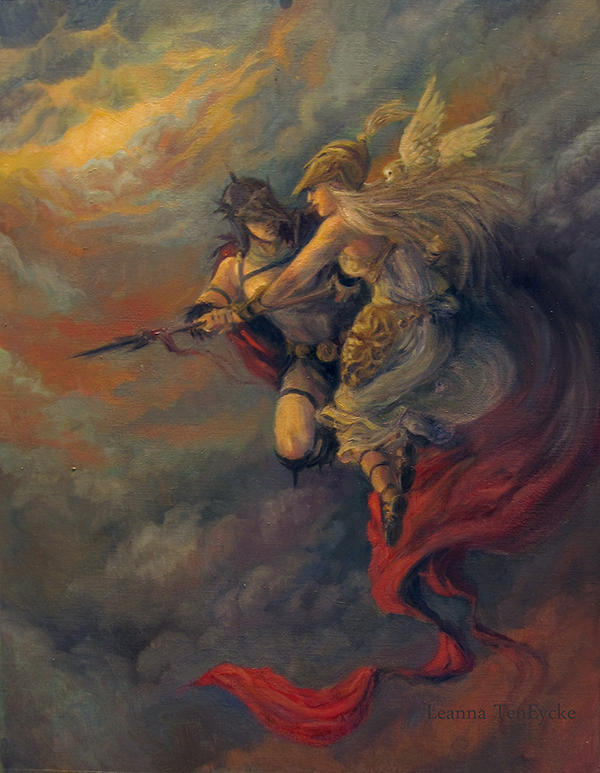 Athena and Ares, gods of war Picture, Athena and Ares ...