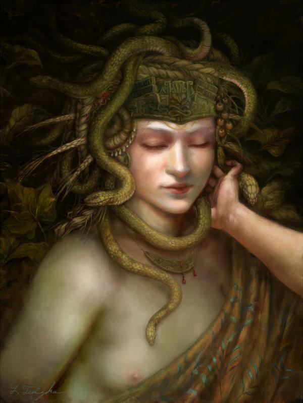 Minoan Snake Goddess by ByTheOak
