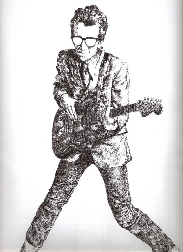 Elvis Costello by vtotheicky