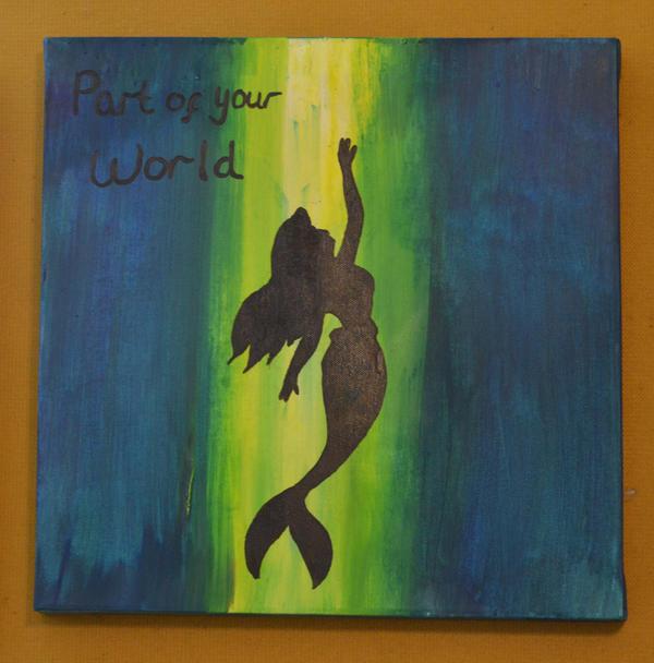 Little Mermaid Melted Crayon Art by charlottina